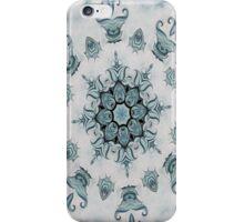 Baroque Blue Rosette iPhone Case/Skin