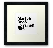 Back to the Future II Marty & Doc Framed Print