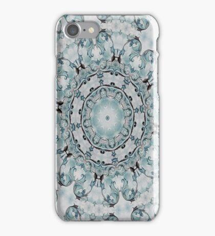 Baroque Blue Rosette- N55 iPhone Case/Skin