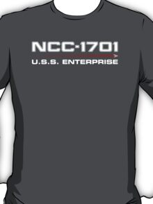 ST Registry Series - Enterprise Refit White Logo T-Shirt