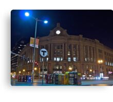 Boston South Station a December Evening  Canvas Print