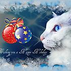 Delain says Happy Holidays - greeting card #2 by Scott Mitchell
