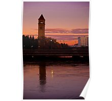 Late Day, Riverfront Park, Spokane, WA Poster