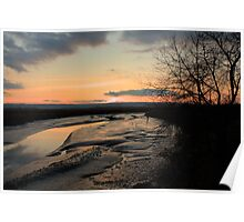 Padilla Bay Estuary at Dusk Poster