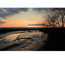 Padilla Bay Estuary at Dusk Photographic Print