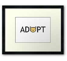 Adopt (Cat) Framed Print
