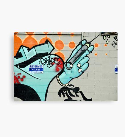 Graffiti Injection Canvas Print