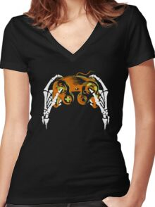 Spooky GC Women's Fitted V-Neck T-Shirt