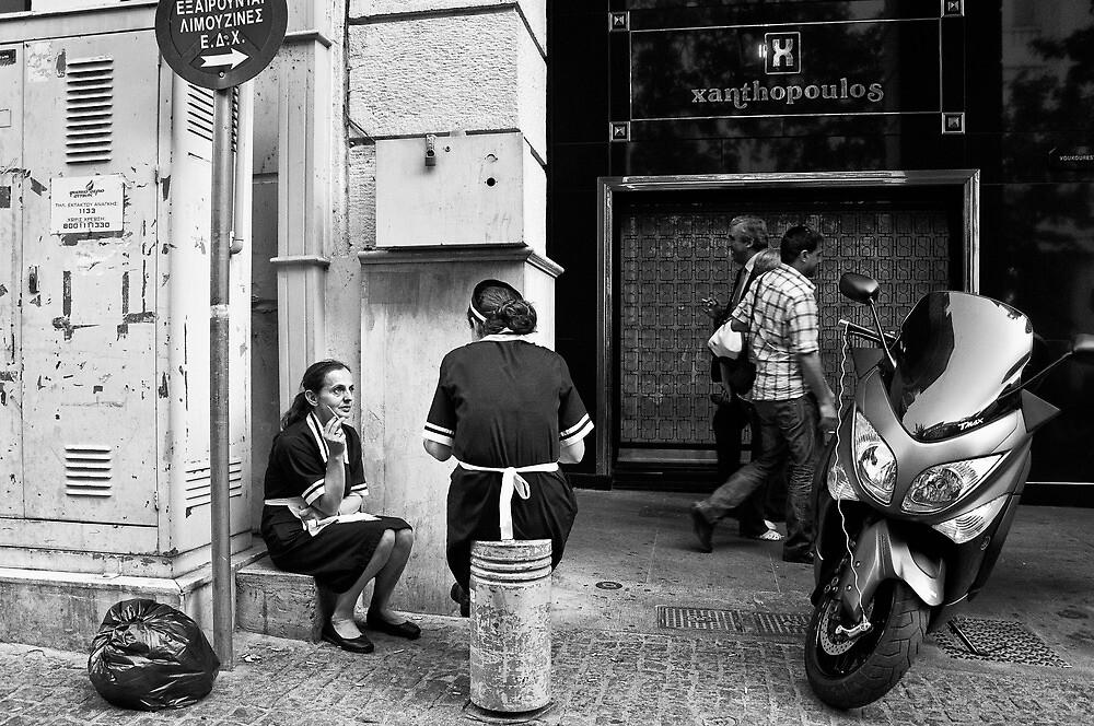 Cigarette break by StamatisGR