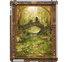 Two friends sitting by a river iPad Case/Skin