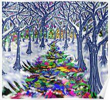 """Christmas Tree Path"" Poster"