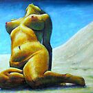 Armienne at the Beach by Malcolm McCoull