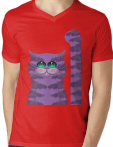 CARLOS THE CAT Mens V-Neck T-Shirt