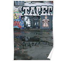 France Graffiti Poster
