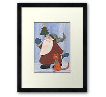 Juggling Santa Framed Print