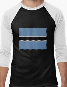 Botswana flag Men's Baseball ¾ T-Shirt