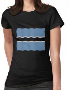 Botswana flag Womens Fitted T-Shirt