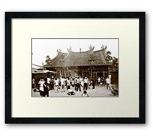 Penang Temple Framed Print