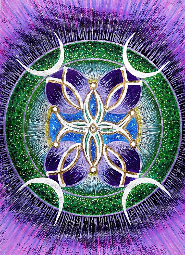 Mandala  :  Wisdom's Reflection by danita clark