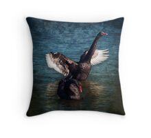 """""""Black Swan Lake"""" Throw Pillow"""