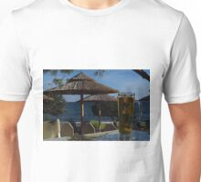 Beach Umbrellas & Mythos Beer Unisex T-Shirt