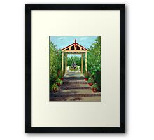 View To The Fountain Framed Print