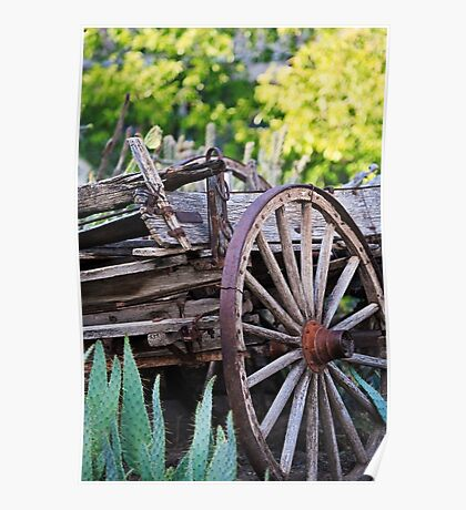 Corrales New Mexico Old Wagon Poster