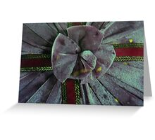 o tie a purple ribbon down here... Greeting Card