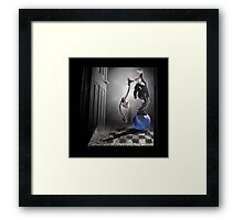 Say Uncle! Framed Print