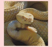 Albino Western Diamondback Rattlesnake - USA Kids Tee