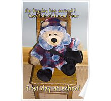 First day at school Poster