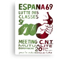 Class Struggle French Protest Poster Canvas Print