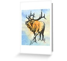 Bull Elk in the Roar Greeting Card