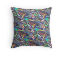 silver holographic Throw Pillow