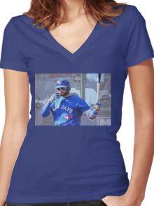 Kevin Pillar  Toronto Blue Jay Women's Fitted V-Neck T-Shirt