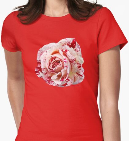 Peppermint Rose ~ Sweet and Spicy  Womens Fitted T-Shirt