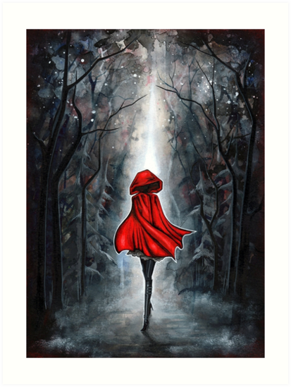 Quot Little Red Riding Hood Quot Art Prints By Annya Kai Redbubble