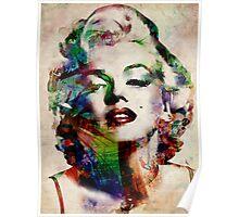 Marilyn Monroe Urban Art Poster