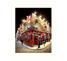 Bright Lights, Big City - Temple Bar - Dublin Ireland Art Print