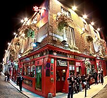 Bright Lights, Big City - Temple Bar - Dublin Ireland by Mark Tisdale