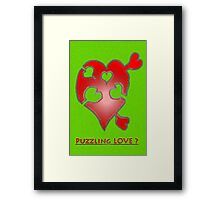 A LOVE puzzle piece Framed Print