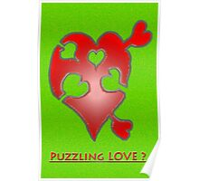 A LOVE puzzle piece Poster