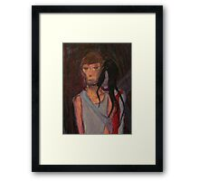 Falling Past Gray(red lady occurrence) Framed Print