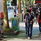 Swanston Street - Retail District, Tuesday, October 2015 by brendanscully