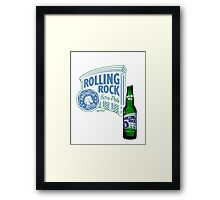 Rolling Rock Framed Print
