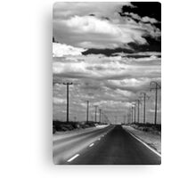 Power Lines to the End of the Road Canvas Print
