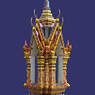 Thailand-Shrine at Wat Nuan Naram- Koh Samui by DAdeSimone