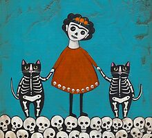 Frida and Cats by Ryan Conners