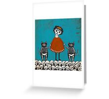 Frida and Cats Greeting Card