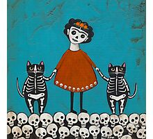 Frida and Cats Photographic Print
